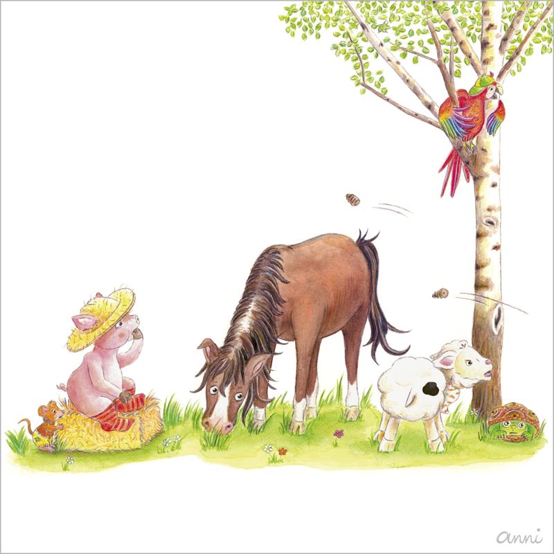 Friedolins Freunde Maus Schwein Pferd Schaf Papagei Schildkröte