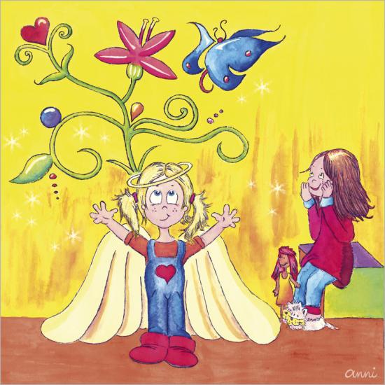 Kinderbuch Angelina Engel Junge Mädchen Blumen