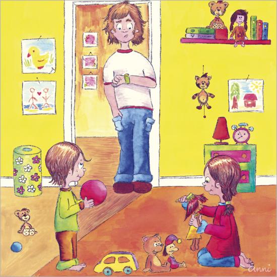 Kinderbuch Angelina Junge Mädchen Vater Kinderzimmer
