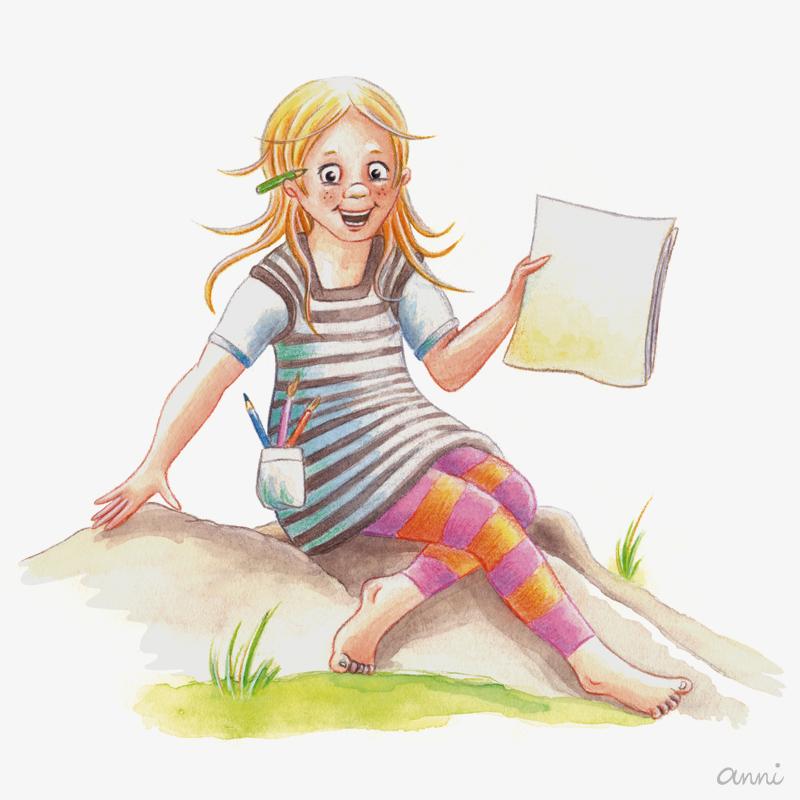 Annimalt Website Mädel Illustration GRAU