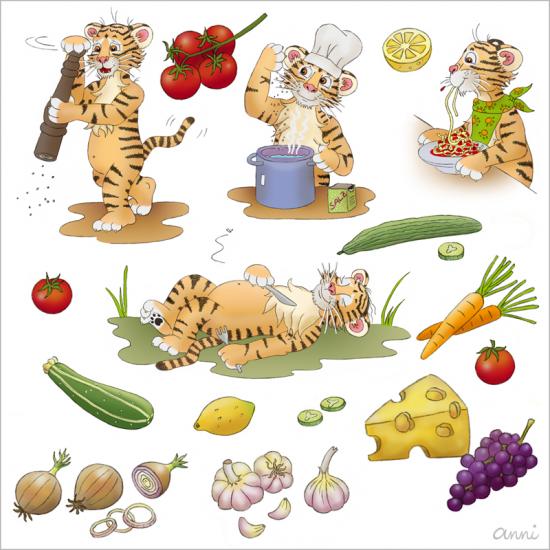 Kochbuch Tiger Theo Zutaten Zubereitung