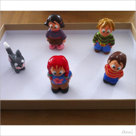 Cleos Dorf Katze Kinder Spielfiguren