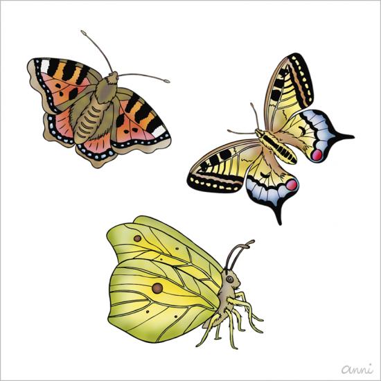 Ostern Frühling Schmetterlinge