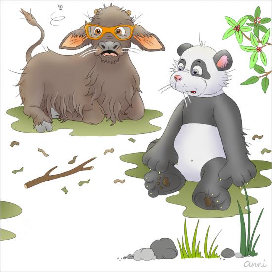 Kinderbuch Tiger Theo Wasserbüffel Panda