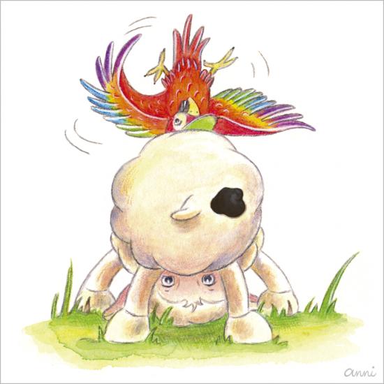 Friedolins Freunde Schaf Papagei Purzelbaum