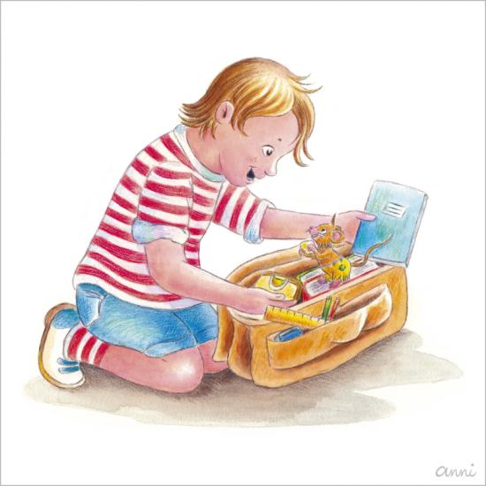 Kinderbuch Friedolins Freunde Kind Maus Schule Ranzen