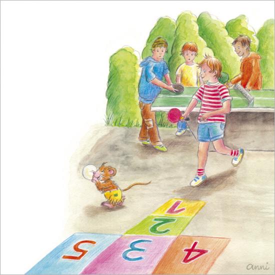 Kinderbuch Friedolins Freunde Kinder Maus Schule Tischtennis