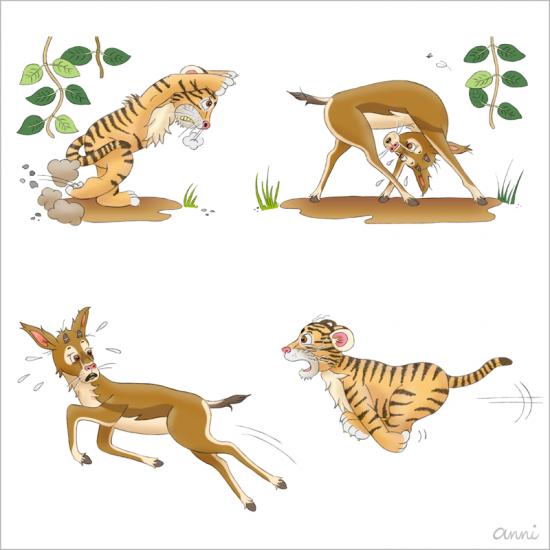Kinderbuch Tiger Theo Gazelle Jagd