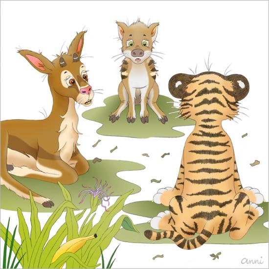 Kinderbuch Tiger Theo Gazelle Wildschwein