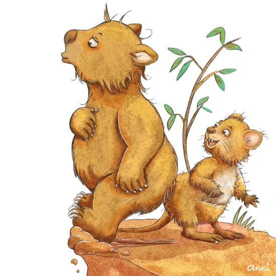 Wombat und Quokka