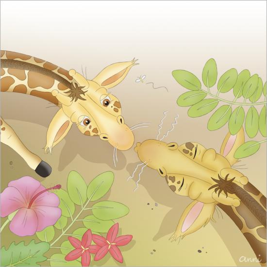 Arche Noah Giraffen Kuss