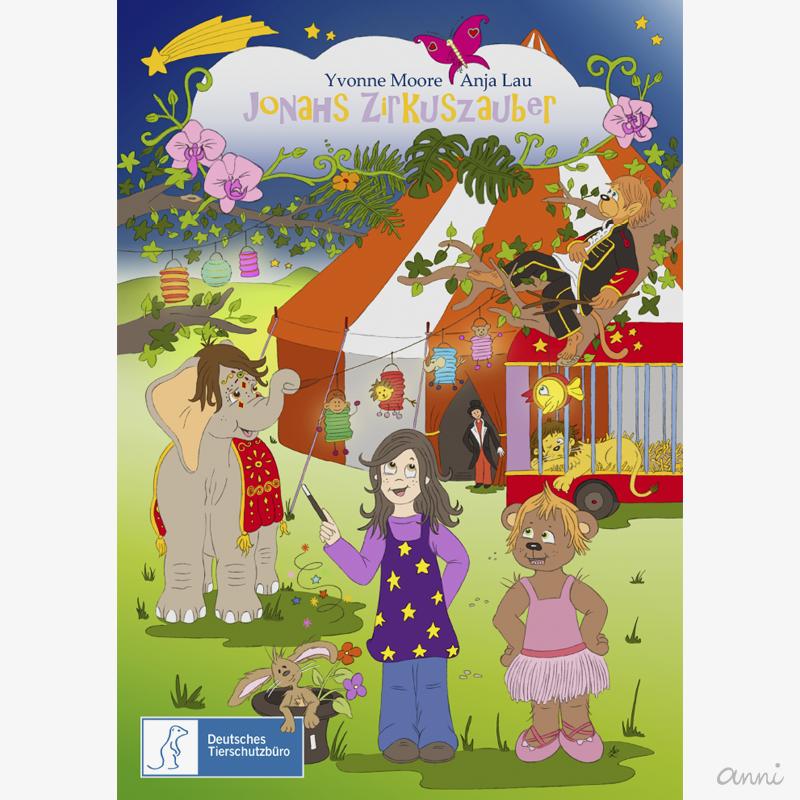 Kinderbuch Cover Jonahs Zirkuszauber GRAU