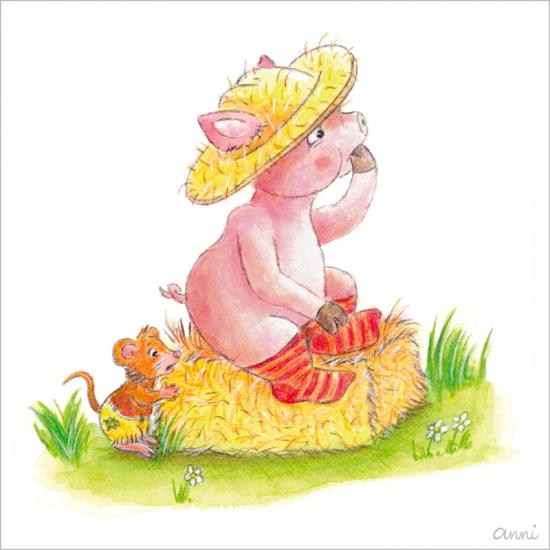 Kinderbuch Friedolins Freunde Schwein Maus